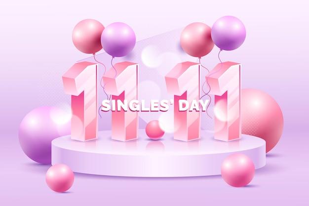 Realistisches singles day konzept
