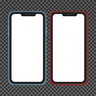Realistisches smartphone ähnlich dem iphone x