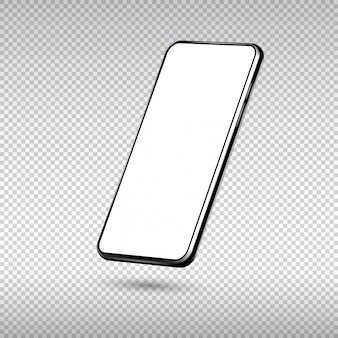 Realistisches smartphone lokalisiert auf transparentem hintergrund.