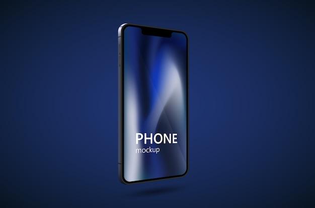 Realistisches smartphone-modell. handyrahmen mit leerem display.