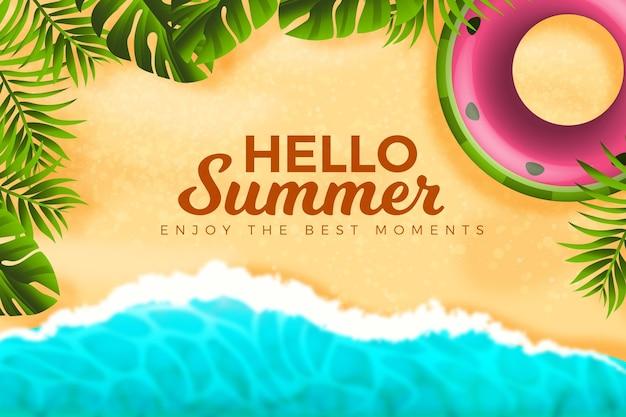 Realistisches sommerhintergrundkonzept