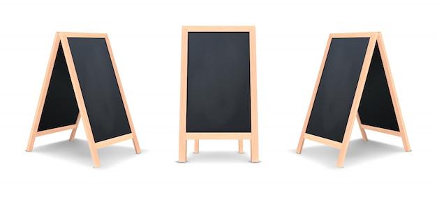 Realistisches spezielles menü-ansagetafel-symbolsatz.