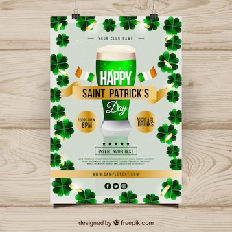 Realistisches st. patrick's day flyer / poster