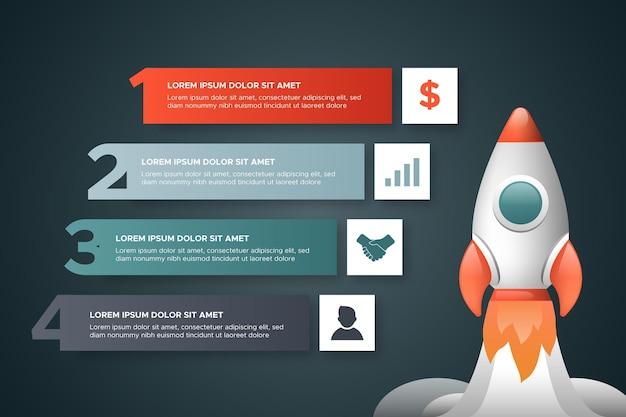 Realistisches startup-infografik-konzept