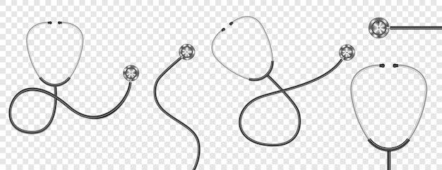 Realistisches stethoskop isoliert