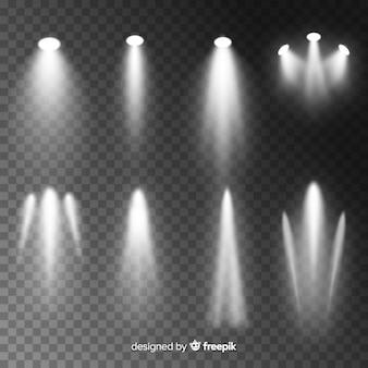 Realistisches szenenbeleuchtungspaket