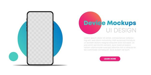 Realistisches telefon auf leerem hintergrundvektor eps10. smartphone mockup handys