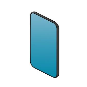 Realistisches telefon im isometrischen stil. modernes smartphone. isoliert. vektor.