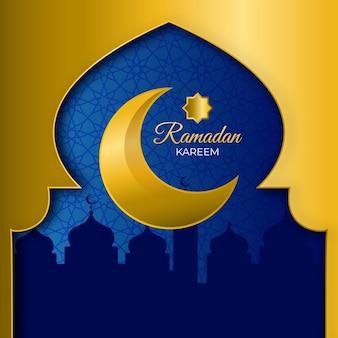 Realistisches thema für ramadan-ereignis