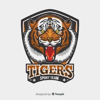 Realistisches tiger-logo