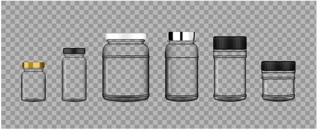 Realistisches transparentes plastikverpackungs-produkt