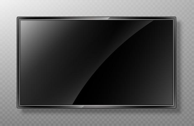 Realistisches tv-bildschirmmodell. Premium Vektoren