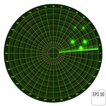 Realistisches vektorradar beim suchen