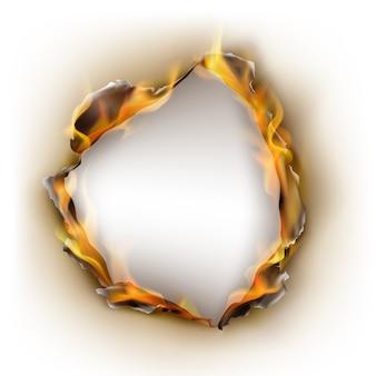 Realistisches verbranntes papier