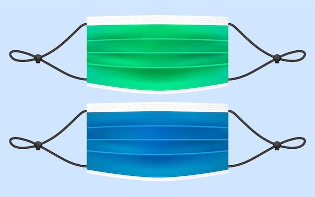 Realistisches verstellbares gesichtsmasken-lanyard