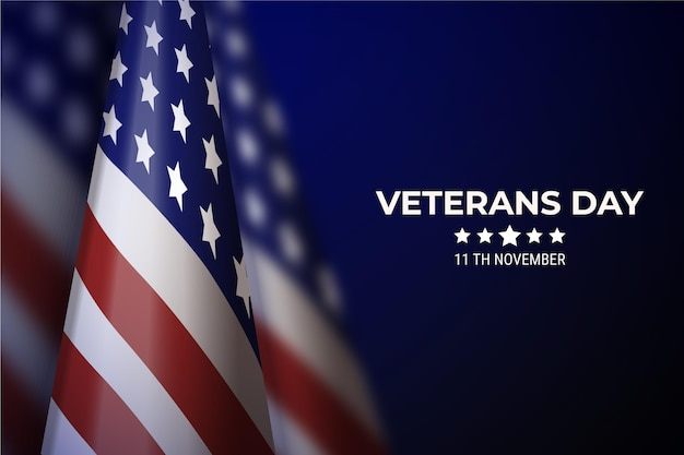 Realistisches veteranentagskonzept
