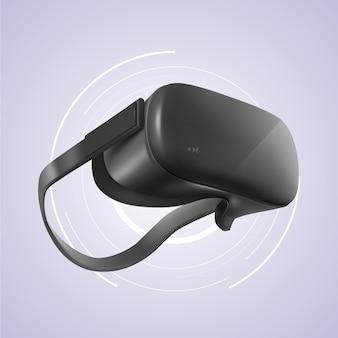 Realistisches virtuelles headset für augmented reality