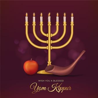 Realistisches yom kippur-konzept