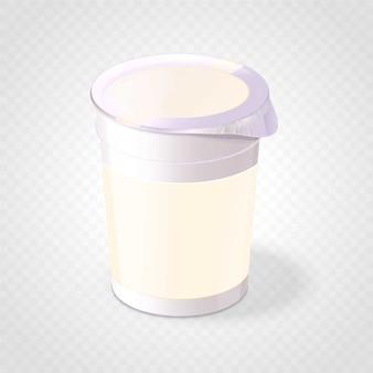 Realistisches yougurt-produkt