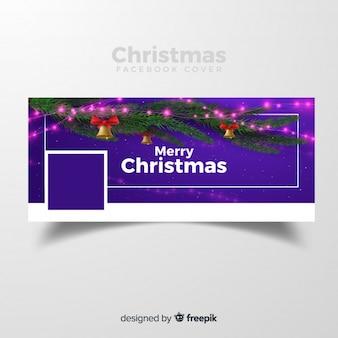 Realistisches Zweigweihnachten Facebook-Cover