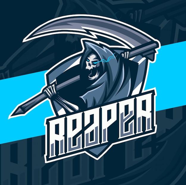 Reaper maskottchen esport logo design