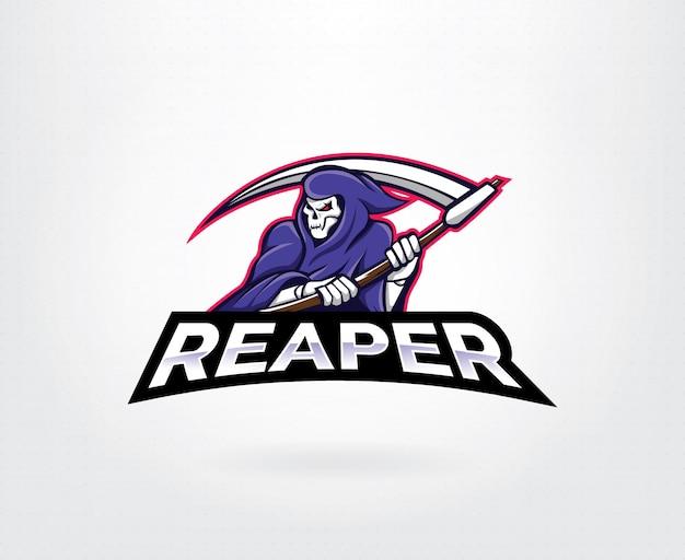 Reaper maskottchen zeichen logo