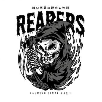 Reapers-schwarzweißabbildung
