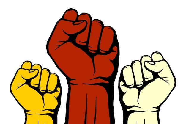 Rebellenvektor-revolutionskunstplakat