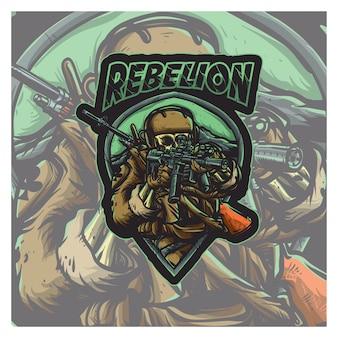 Rebellionstaktische armee, esport-logo