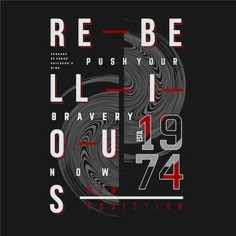 Rebellische text rame typografie