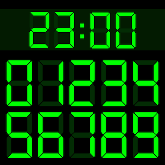 Rechner flüssigkristall digital lcd-nummern.