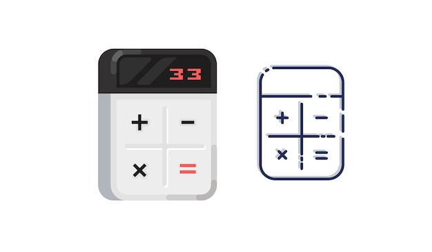 Rechner-symbol. digitale tastatur mathematik isolierte gerätevektorillustration.