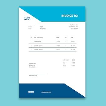 Rechnungsvorlage für elektrikeranzeige