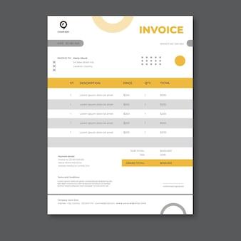 Rechnungsvorlage für geschäftslösungen