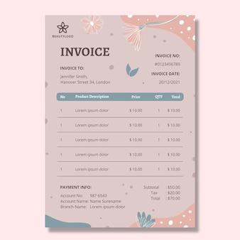 Rechnungsvorlage für schönheitssalons