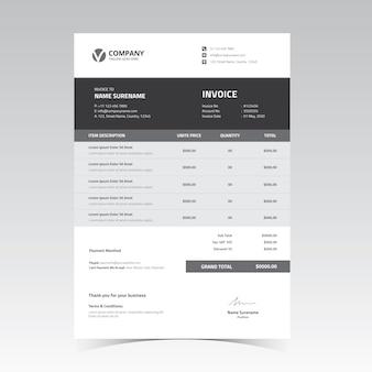 Rechnungsvorlagen-design