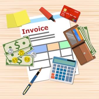 Rechnungszahlungsdesign