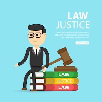Recht, anwalt, wirtschaft. gerechtigkeit und recht konzept.