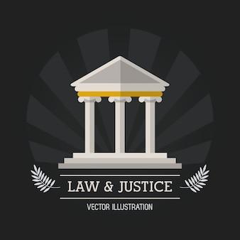 Recht und gerechtigkeit icon design