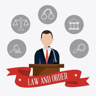 Recht und ordnung design.