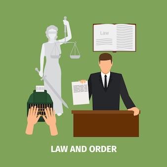 Recht und ordnung konzept