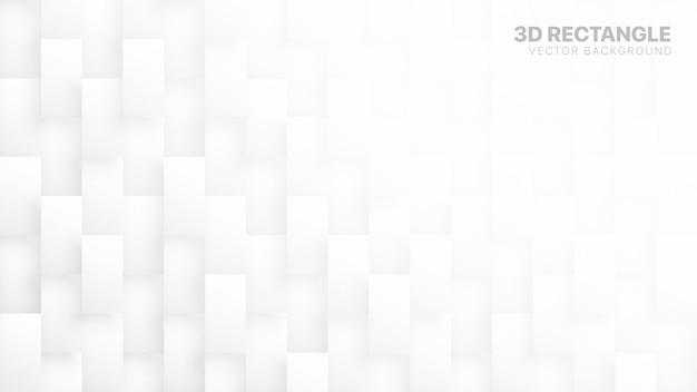 Rechteck 3d blockiert technologie-weißen abstrakten hintergrund