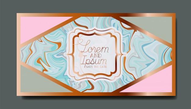 Rechteck golden mit victorianrahmen-marmorbeschaffenheit