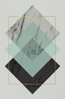 Rechteck rhombus rahmen design