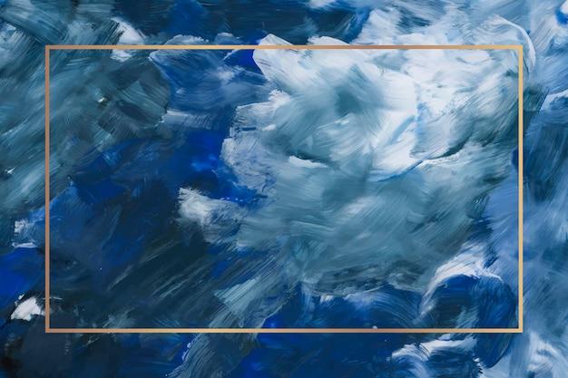 Rechteckgoldrahmen auf abstraktem hintergrund