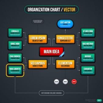 Rechteckige infografik scheme-vorlage