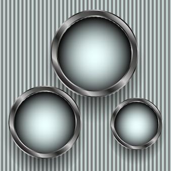 Rechteckige web-schaltflächen, verschiedene vektorillustrationen.