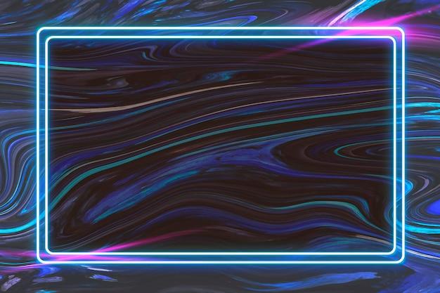 Rechteckiger rahmen auf abstraktem hintergrund