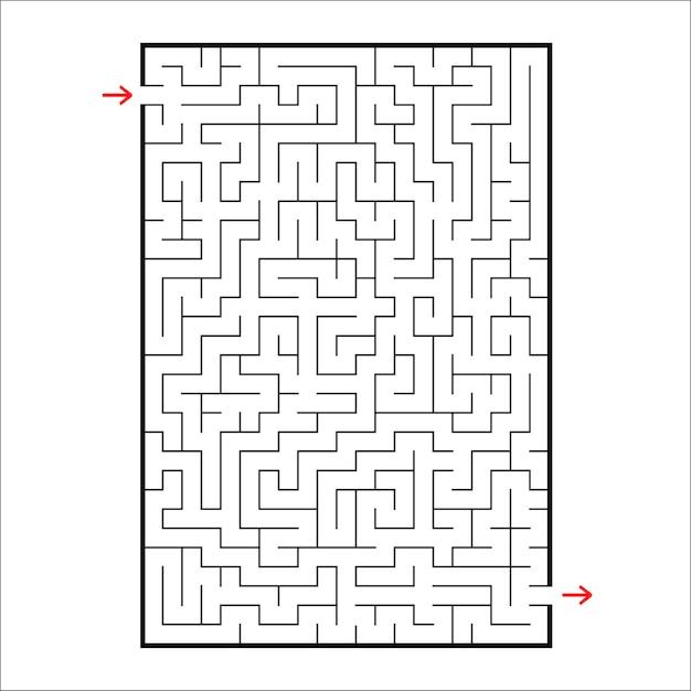 Rechteckiges labyrinth