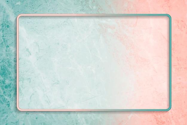 Rechteckrahmen auf abstraktem hintergrundvektor